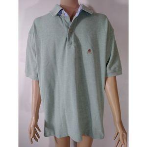 Tommy Hilfiger Green Polo Lion Crest Large Cotton